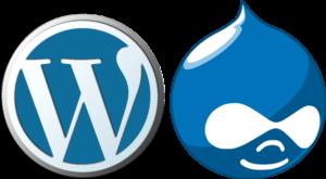 CMS Logos WordPress und Drupal